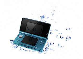 Handheld Video Game Submerged In Water