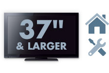 In-Home Service for TVs 37&8220; and Larger