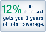 10 percent of the items costs gets you 3 years of total coverage.