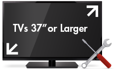TVs larger than 37 inches, desktop PCs. Free in-home service.